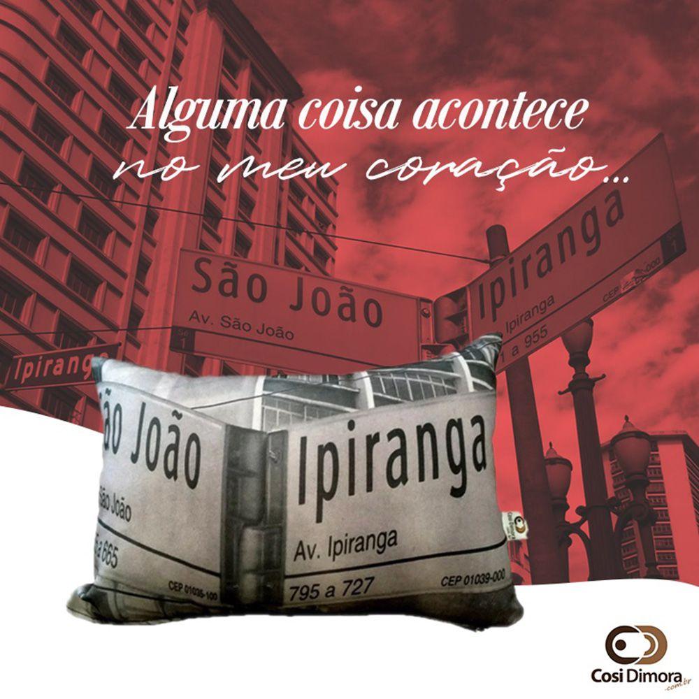 Capa de Almofada Placa Ipiranga x São João 25x35cm Cosi Dimora