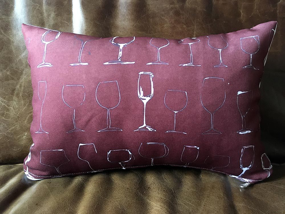 Capa de Almofada Taças de Vinho 25x35cm Cosi Dimora