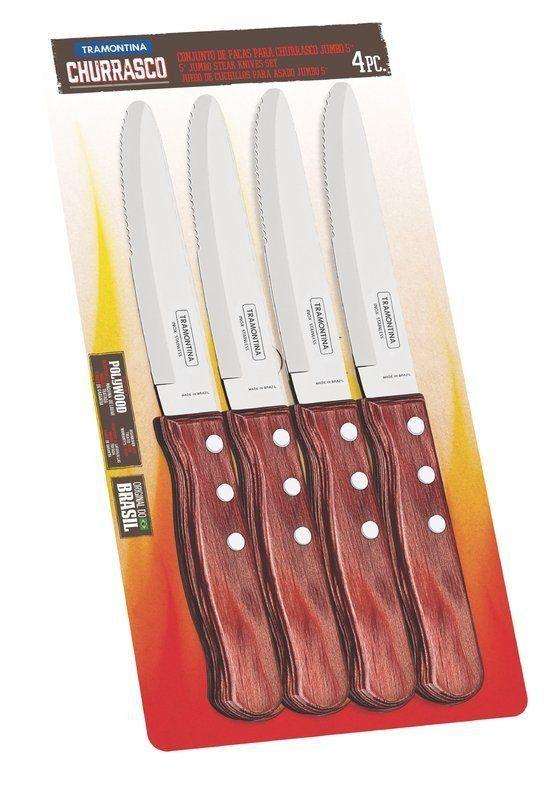 Conjunto de facas para churrasco jumbo Tramontina 4 peças