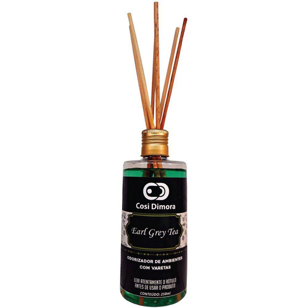 Odorizador com Varetas para Ambientes Earl Grey Tea Essência Importada 250ml Cosi Dimora