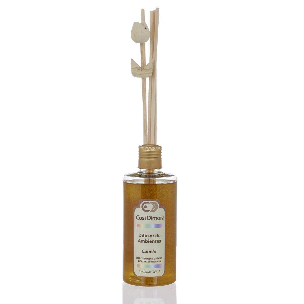 Odorizador com Varetas para Ambientes Canela Essência Importada 250ml Cosi Dimora