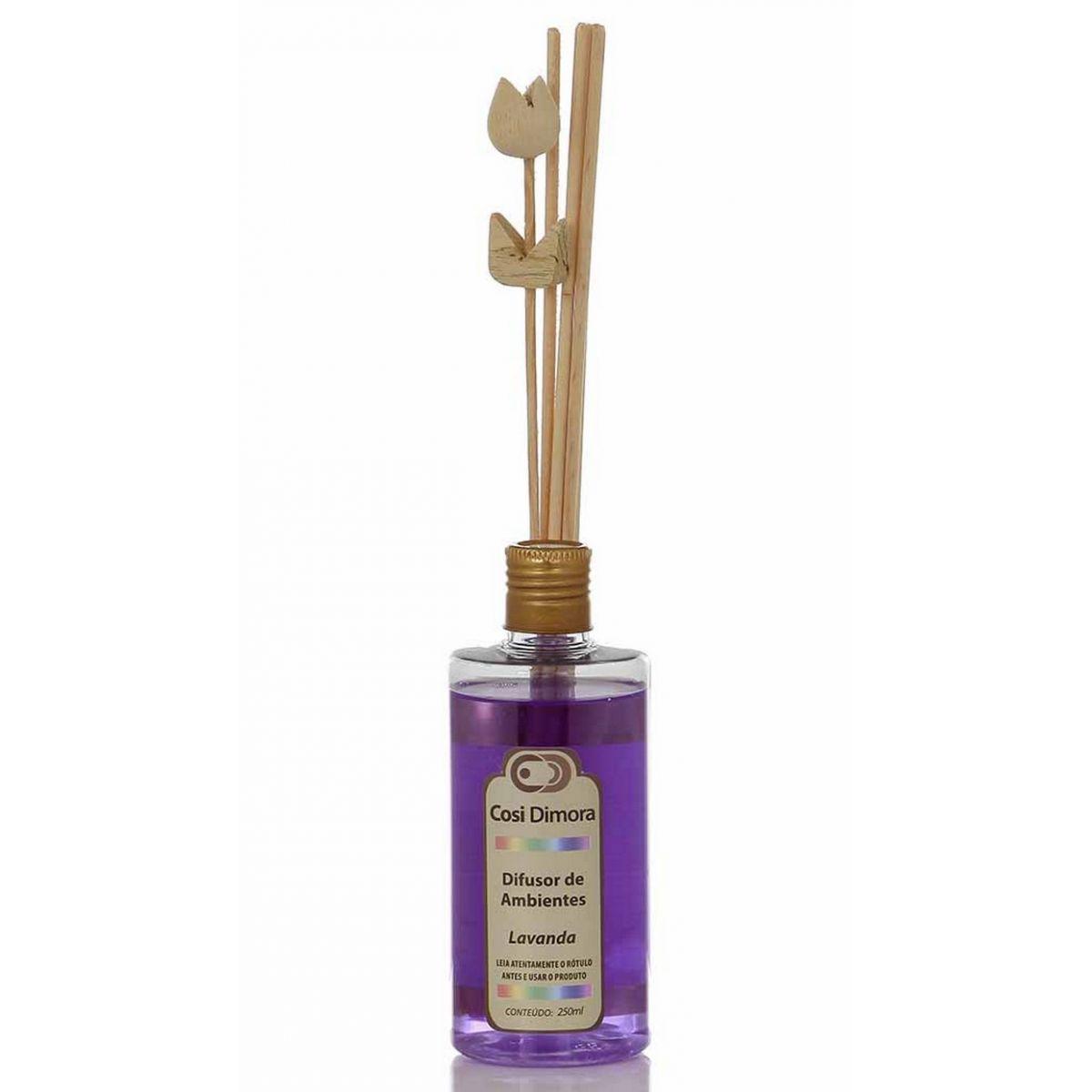 Odorizador com Varetas para Ambientes Lavanda Essência Importada 250ml Cosi Dimora