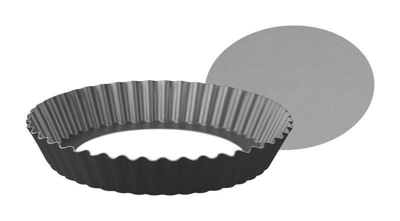 Forma com fundo removível Tramontina de alumínio com revestimento interno antiaderente 24cm