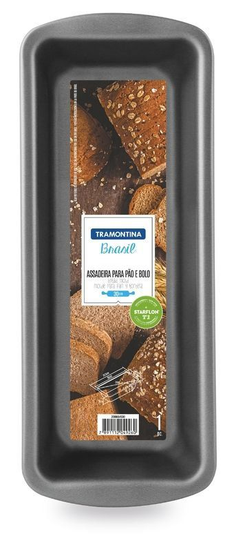 Forma para pão e bolo Tramontina de alumínio com revestimento interno antiaderente 25 x 12cm