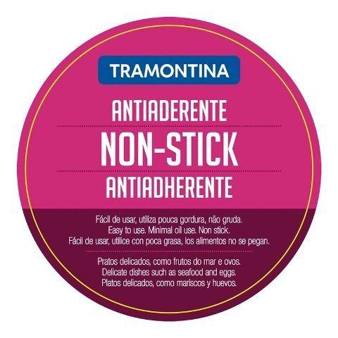 Frigideira funda Tramontina aço inox revestimento antiaderente Ø20cm