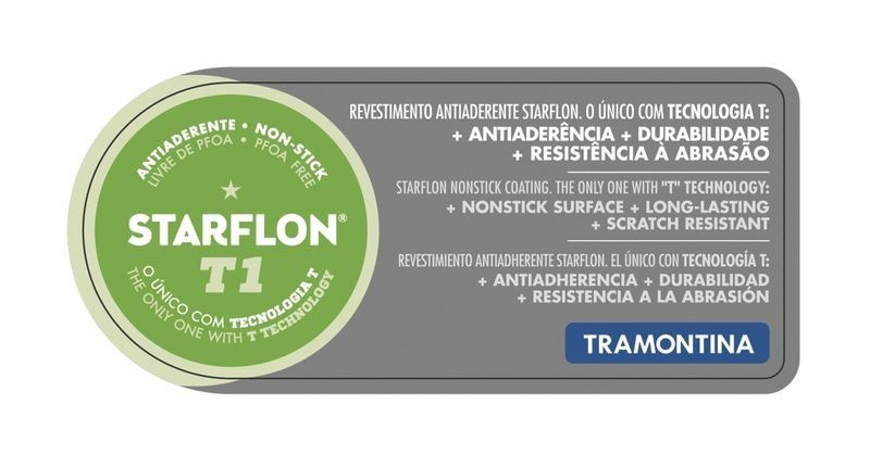 Frigideira reta Tramontina alumínio antiaderente Ø22cm