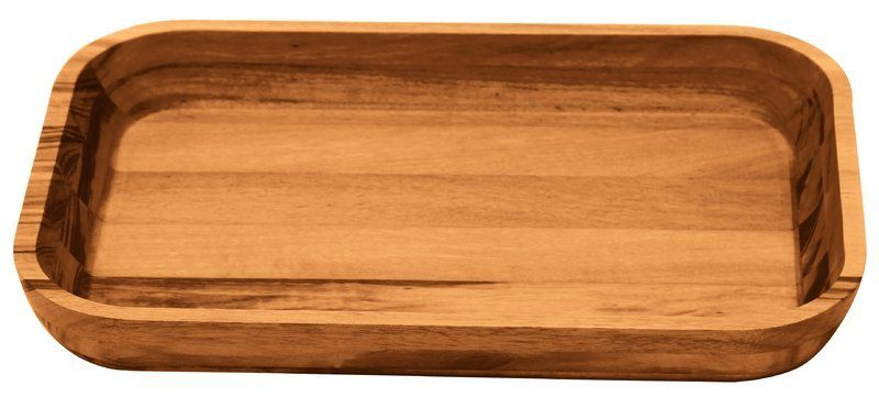 Gamela Churrasco Retangular Pequena Madeira Muiracatiara 40x25cm Tramontina