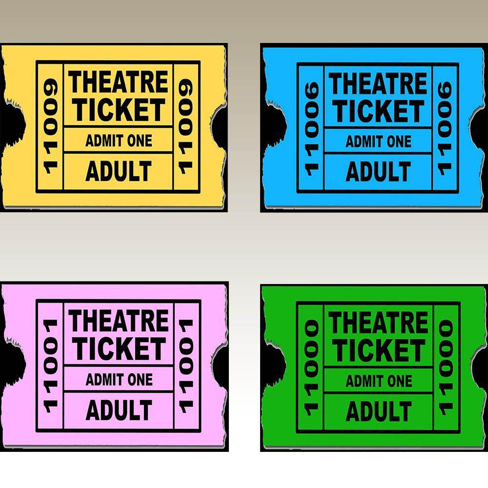 Jogo Americano Lona Emborrachada Theatre Ticket 4 peças Cosi Dimora