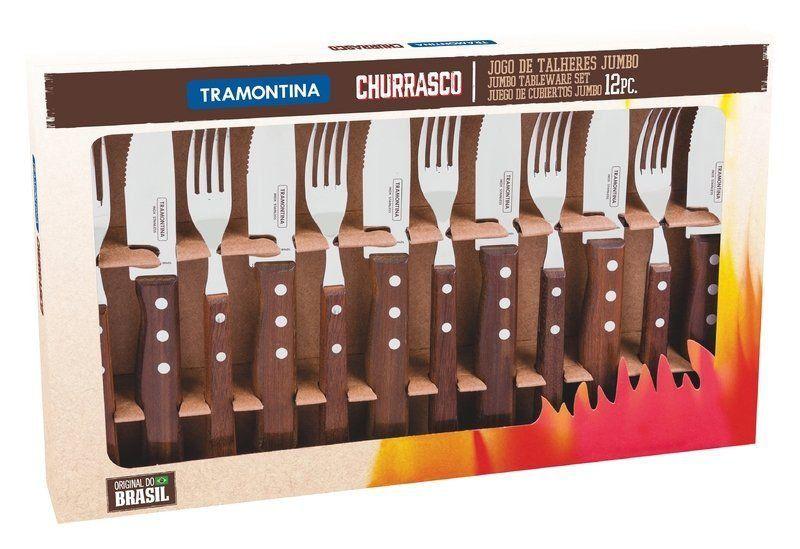 Jogo de talheres para churrasco Tramontina 12 peças