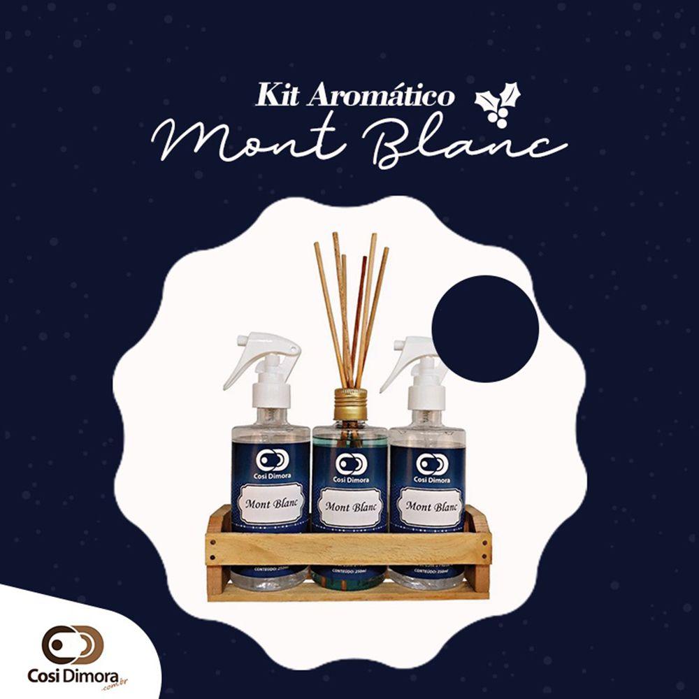 Kit Aromático Mont Blanc Essência Importada Cosi Dimora 3 peças + Brinde