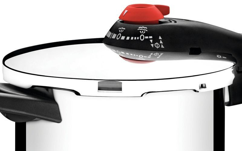 Panela de pressão Tramontina aço inox fundo triplo 4,5 litros Ø22cm