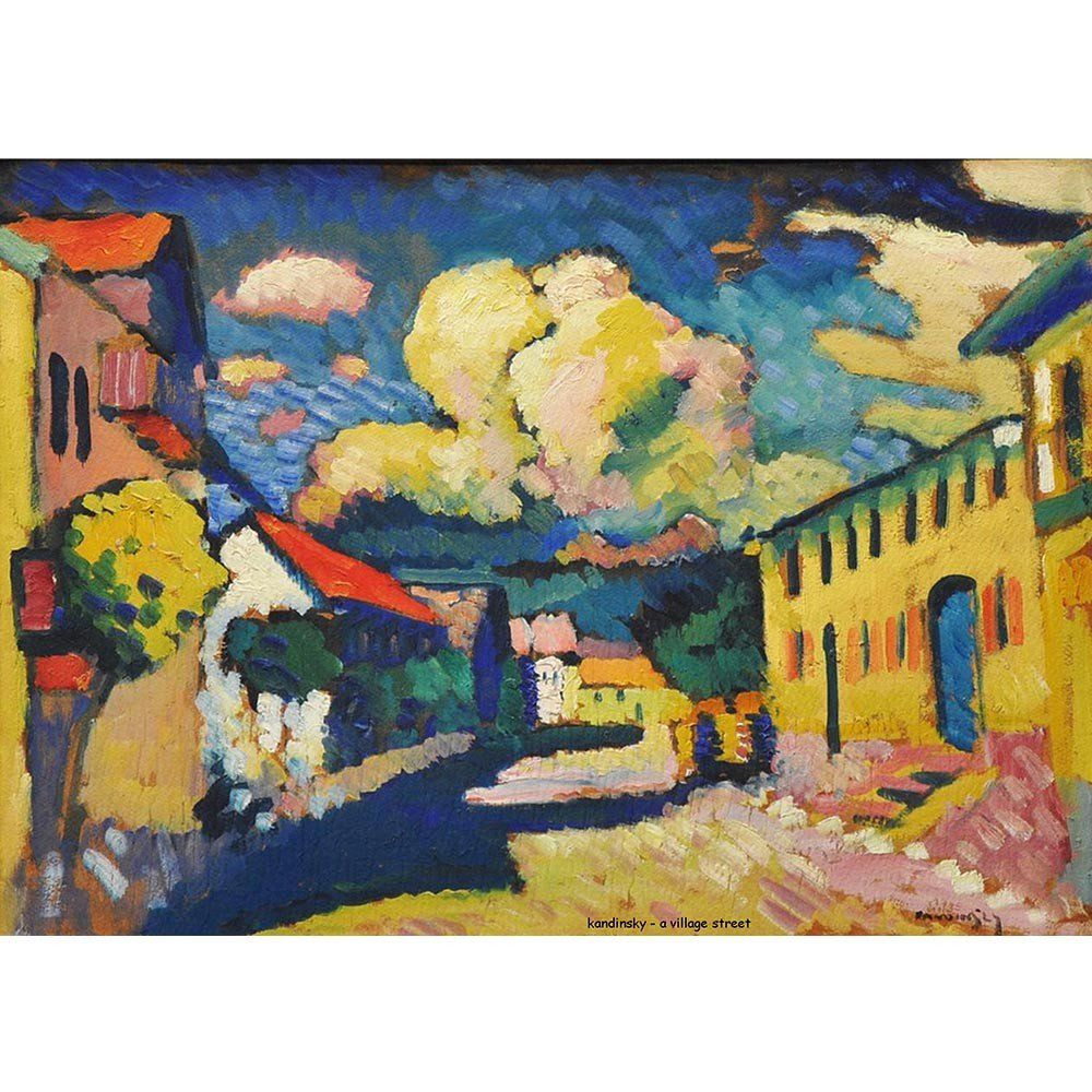 Pôster Decorativo A4 A Village Street - Kandinsky Cosi Dimora