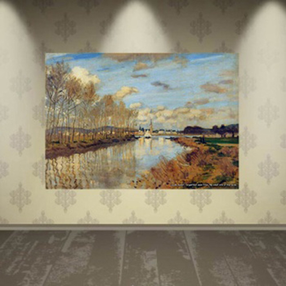 Pôster Decorativo A4 Argenteuil Seen From the Small Arm of the Seine - Claude Monet Cosi Dimora