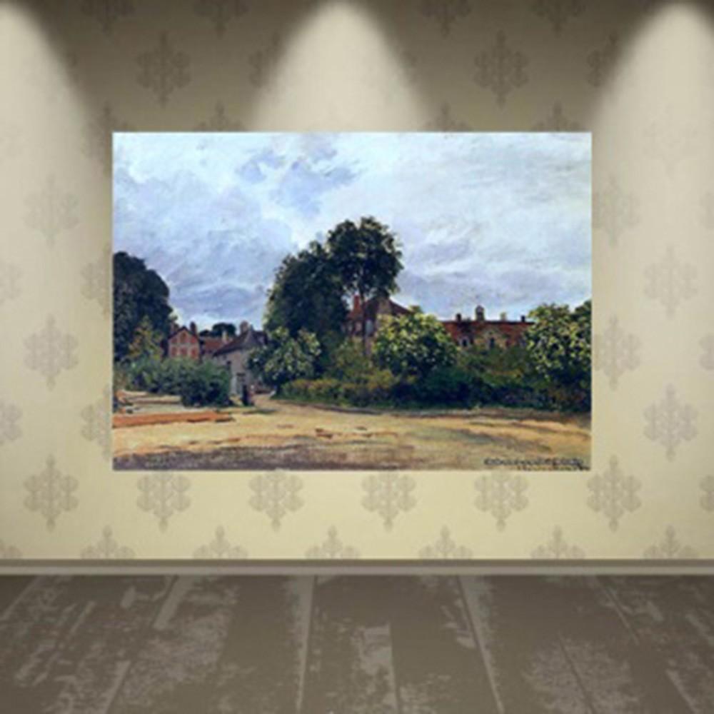 Pôster Decorativo A4 Argenteuil the Hospice - Claude Monet Cosi Dimora