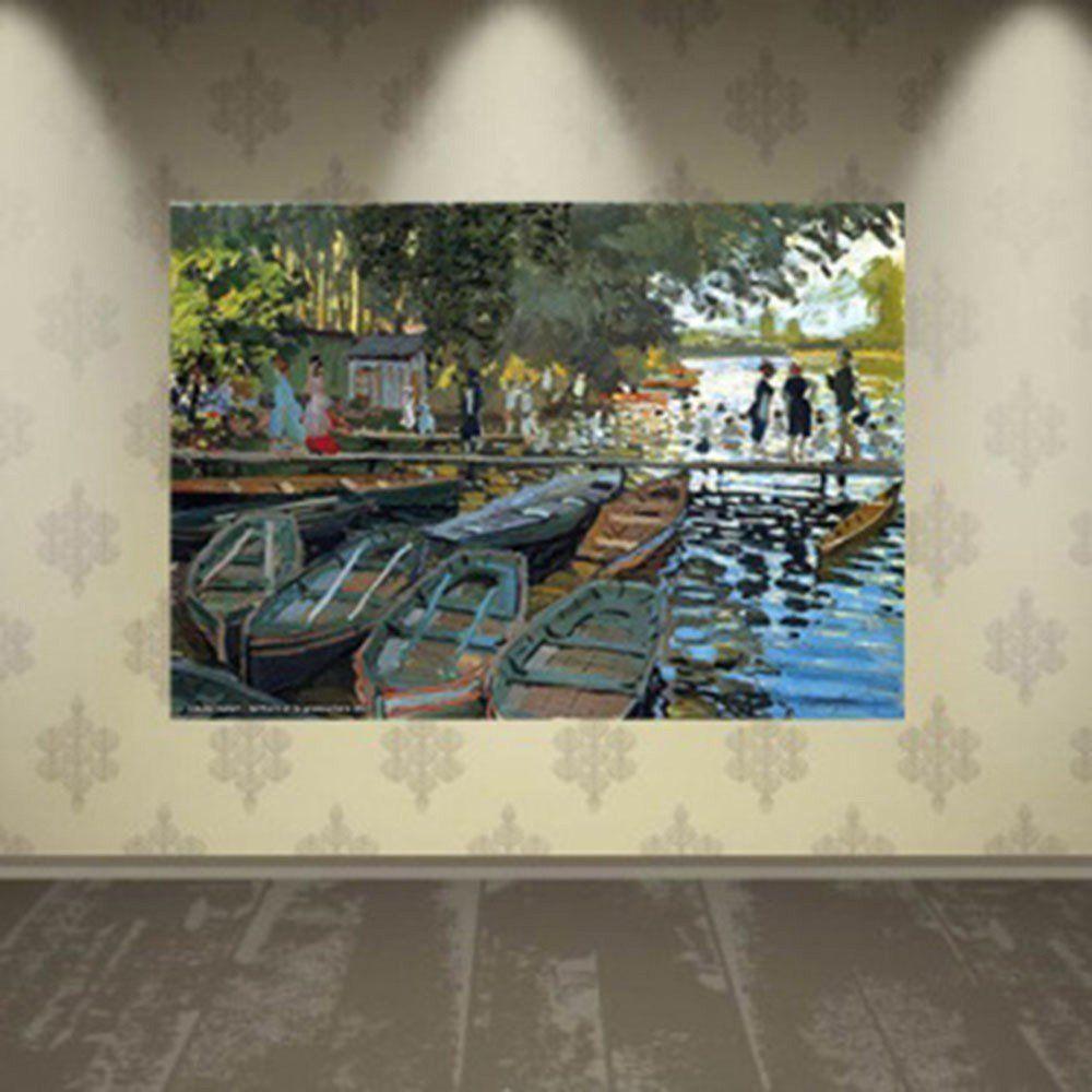 Pôster Decorativo A4 Bathers at la Grenouillere 1869 - Claude Monet Cosi Dimora