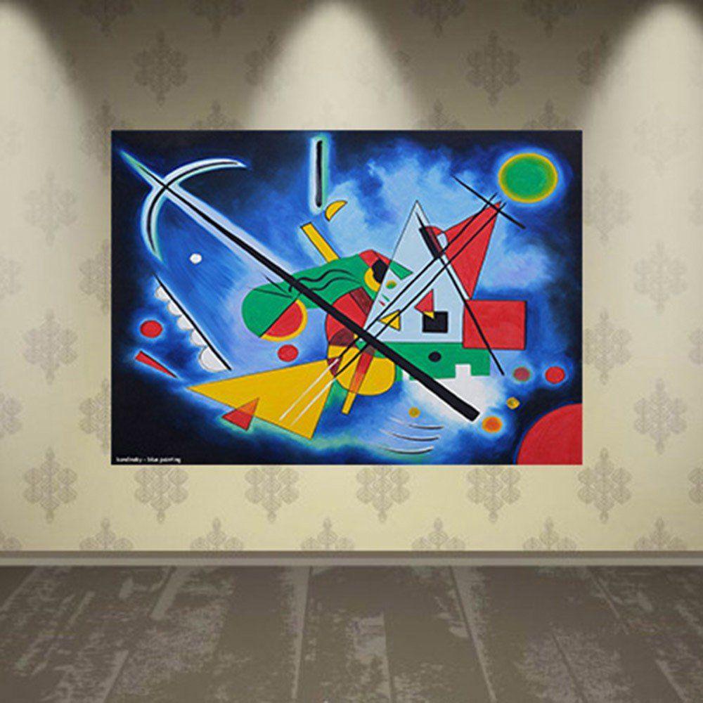 Pôster Decorativo A4 Blue Painting - Kandinsky Cosi Dimora