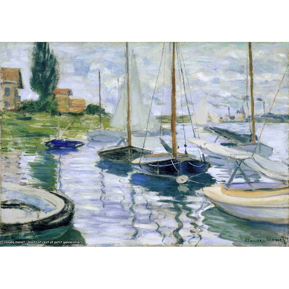 Pôster Decorativo A4 Boats at Rest at Petit Gennevilliers - Claude Monet Cosi Dimora
