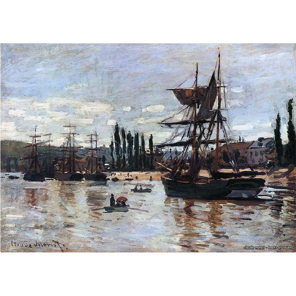 Pôster Decorativo A4 Boats at Rouen - Claude Monet Cosi Dimora