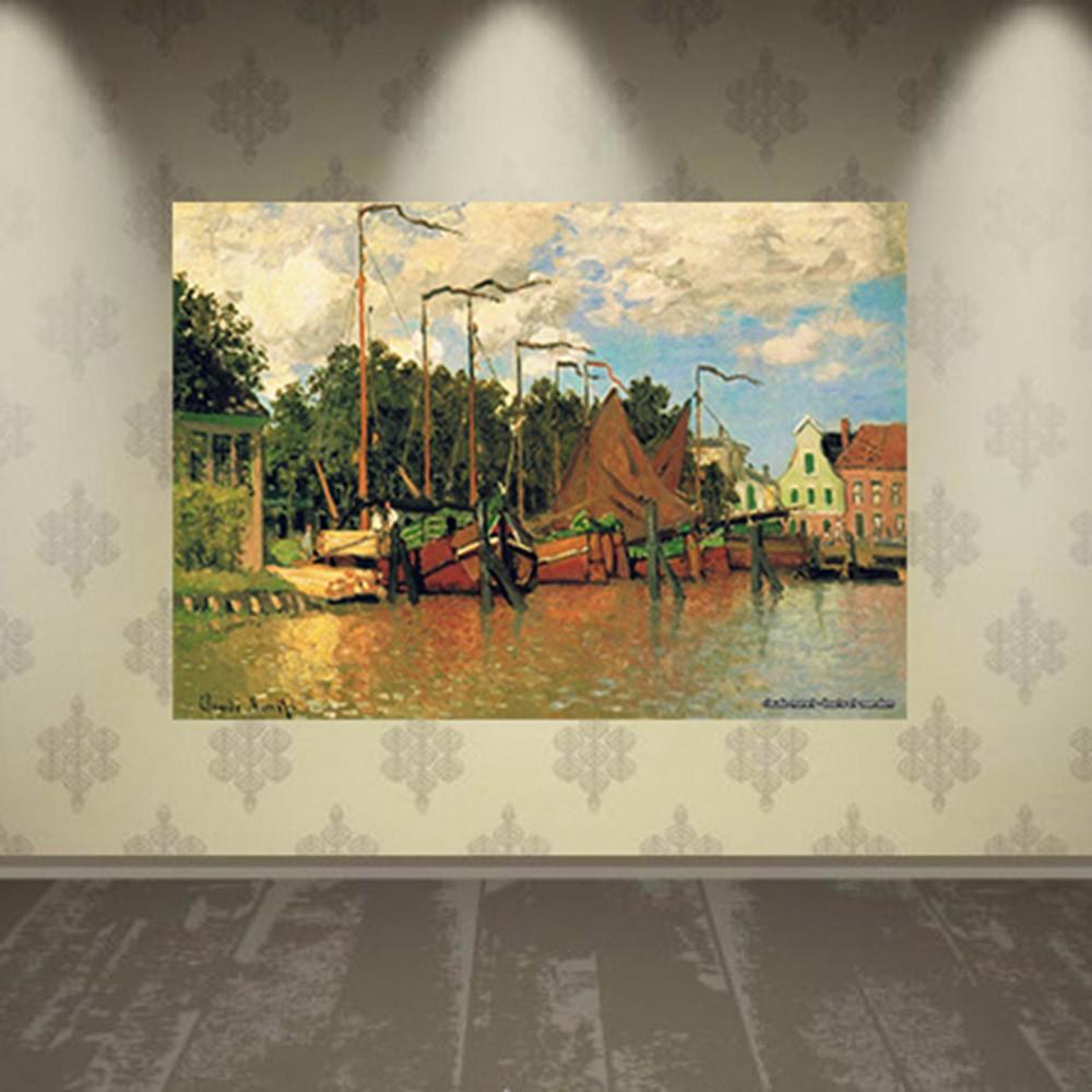 Pôster Decorativo A4 Boats at Zaandam - Claude Monet Cosi Dimora