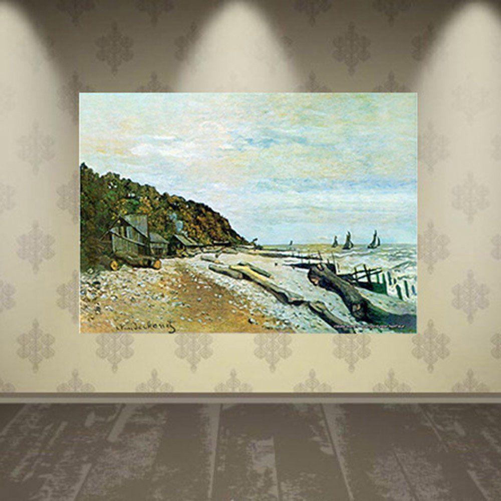 Pôster Decorativo A4 Boatyard Near Honfleur - Claude Monet Cosi Dimora