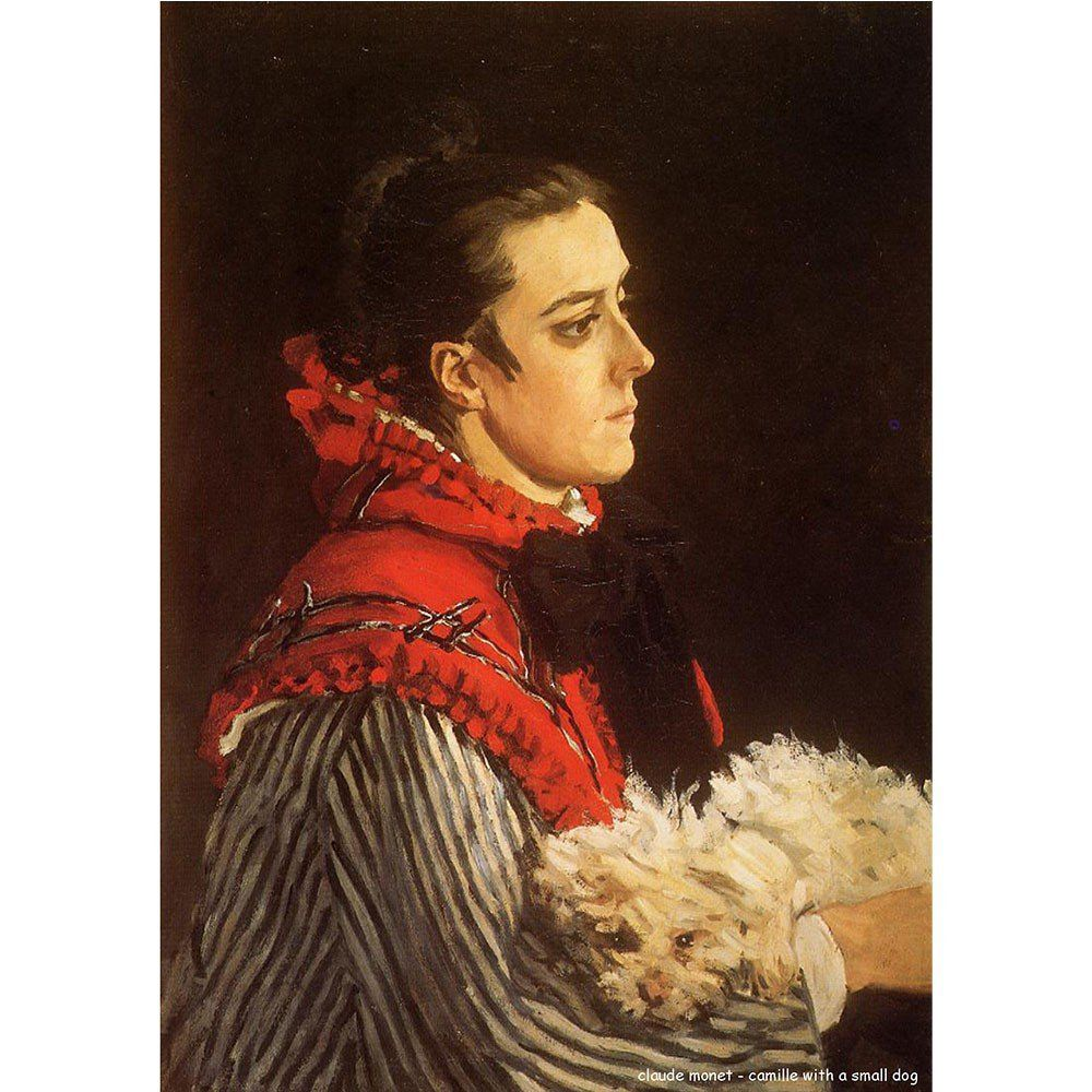 Pôster Decorativo A4 Camille With a Small Dog - Claude Monet Cosi Dimora