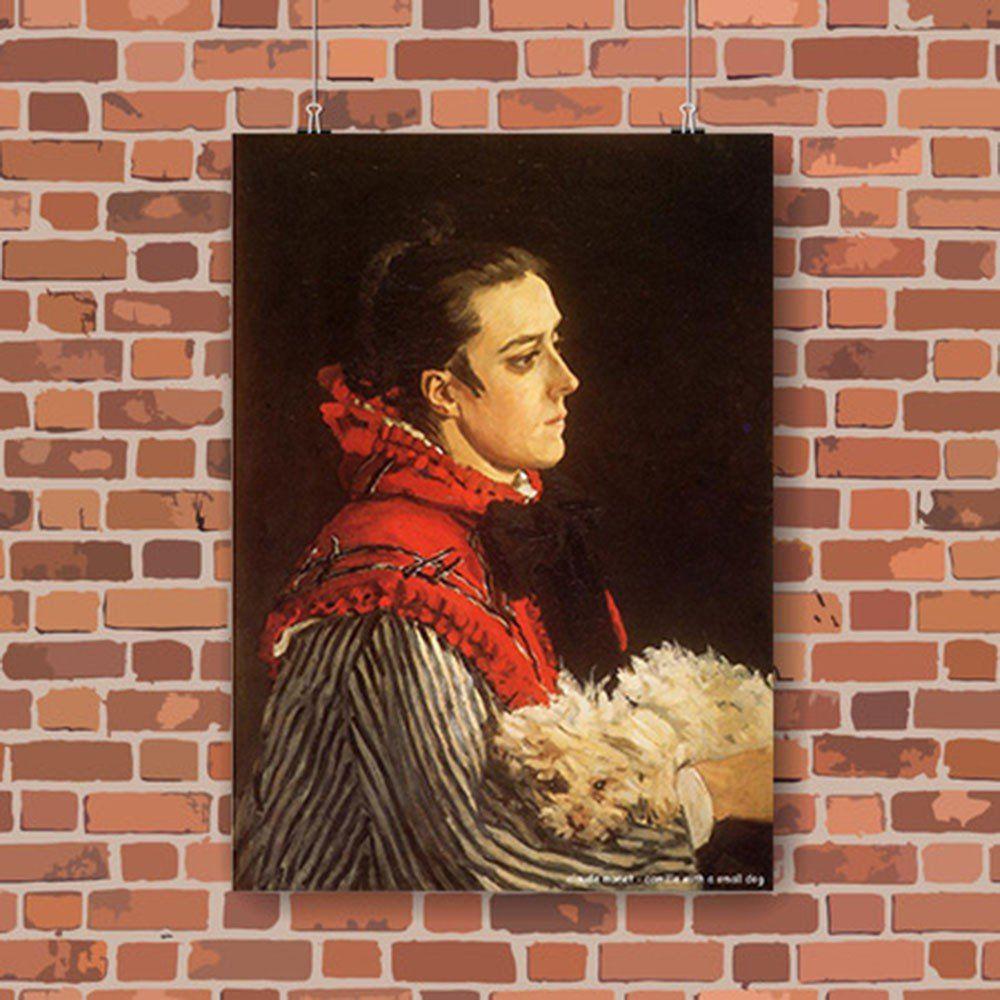 Pôster Decorativo A4 Camille With a Small Dog - Claude Monet Cosi Dimora