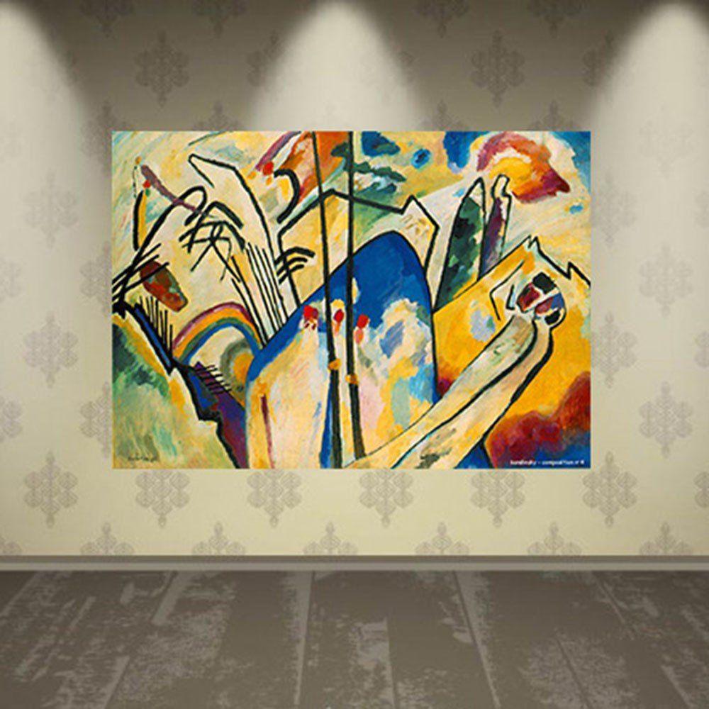 Pôster Decorativo A4 Composition 4 - Kandinsky Cosi Dimora
