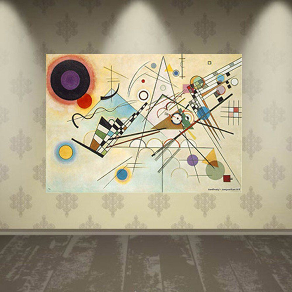 Pôster Decorativo A4 Composition 8 - Kandinsky Cosi Dimora
