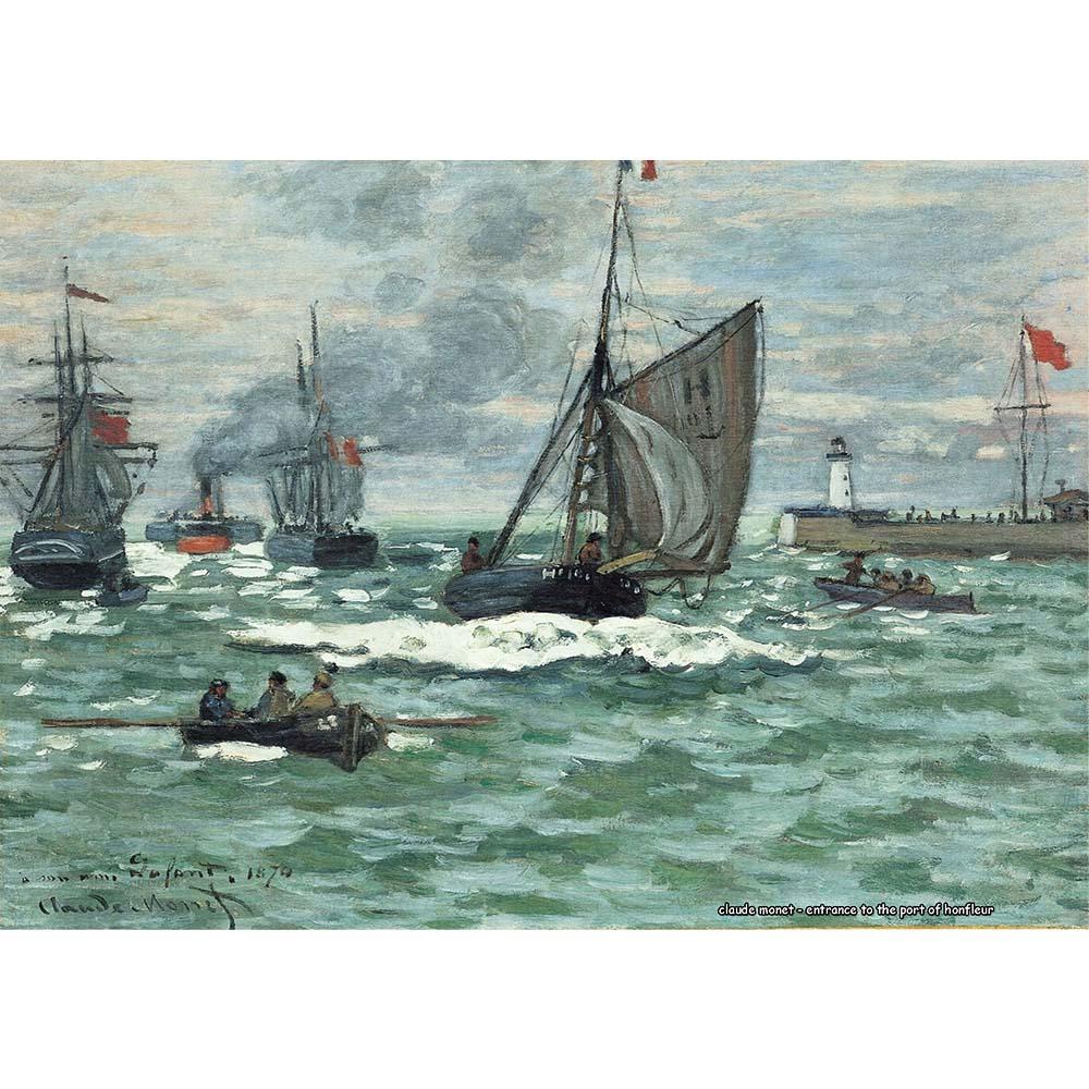 Pôster Decorativo A4 Entrance to the Port of Honfleur - Claude Monet Cosi Dimora