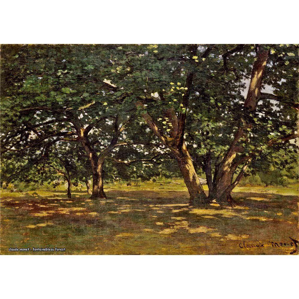 Pôster Decorativo A4 Fontainebleau Forest - Claude Monet Cosi Dimora