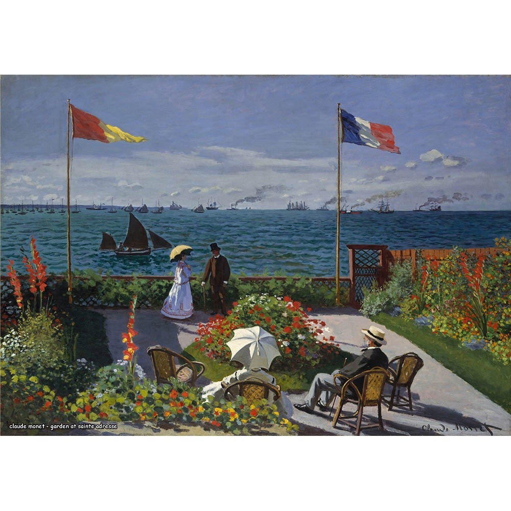Pôster Decorativo A4 Garden at Sainte Adresse - Claude Monet Cosi Dimora