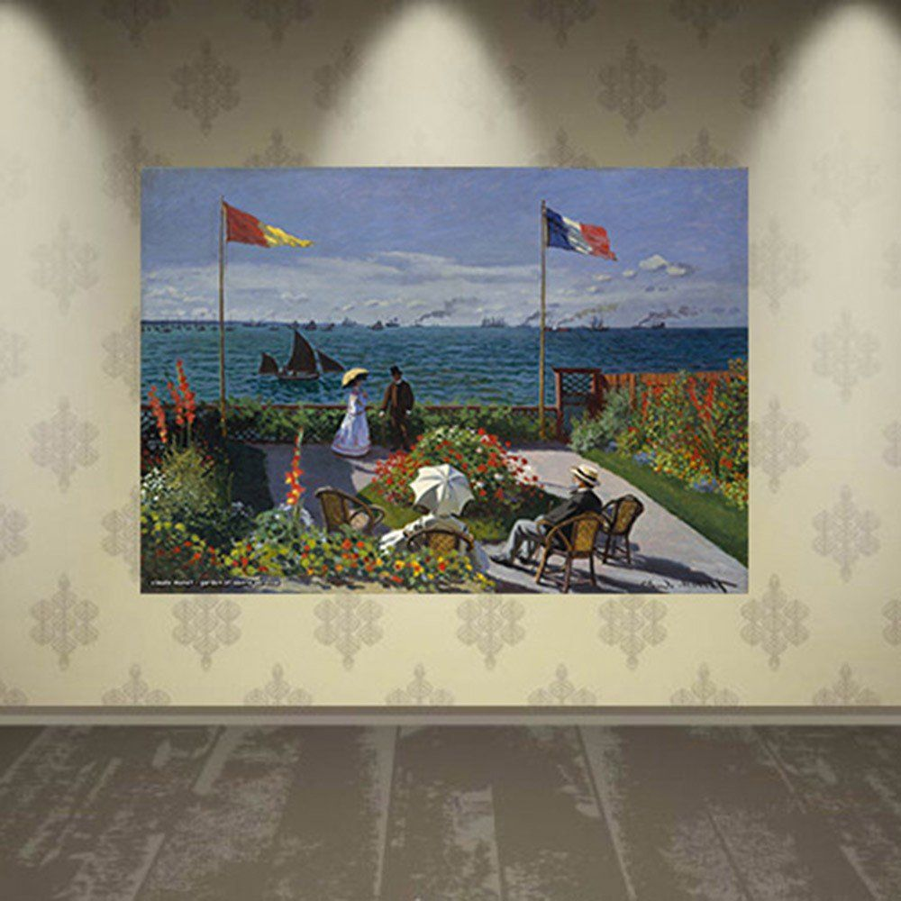 Pôster Decorativo A4 Garden at Sainte Adresse - Claude Monet Cosi Dimora