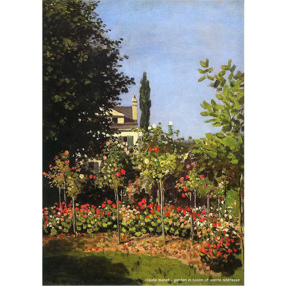 Pôster Decorativo A4 Garden in Bloom at Sainte Addresse - Claude Monet Cosi Dimora