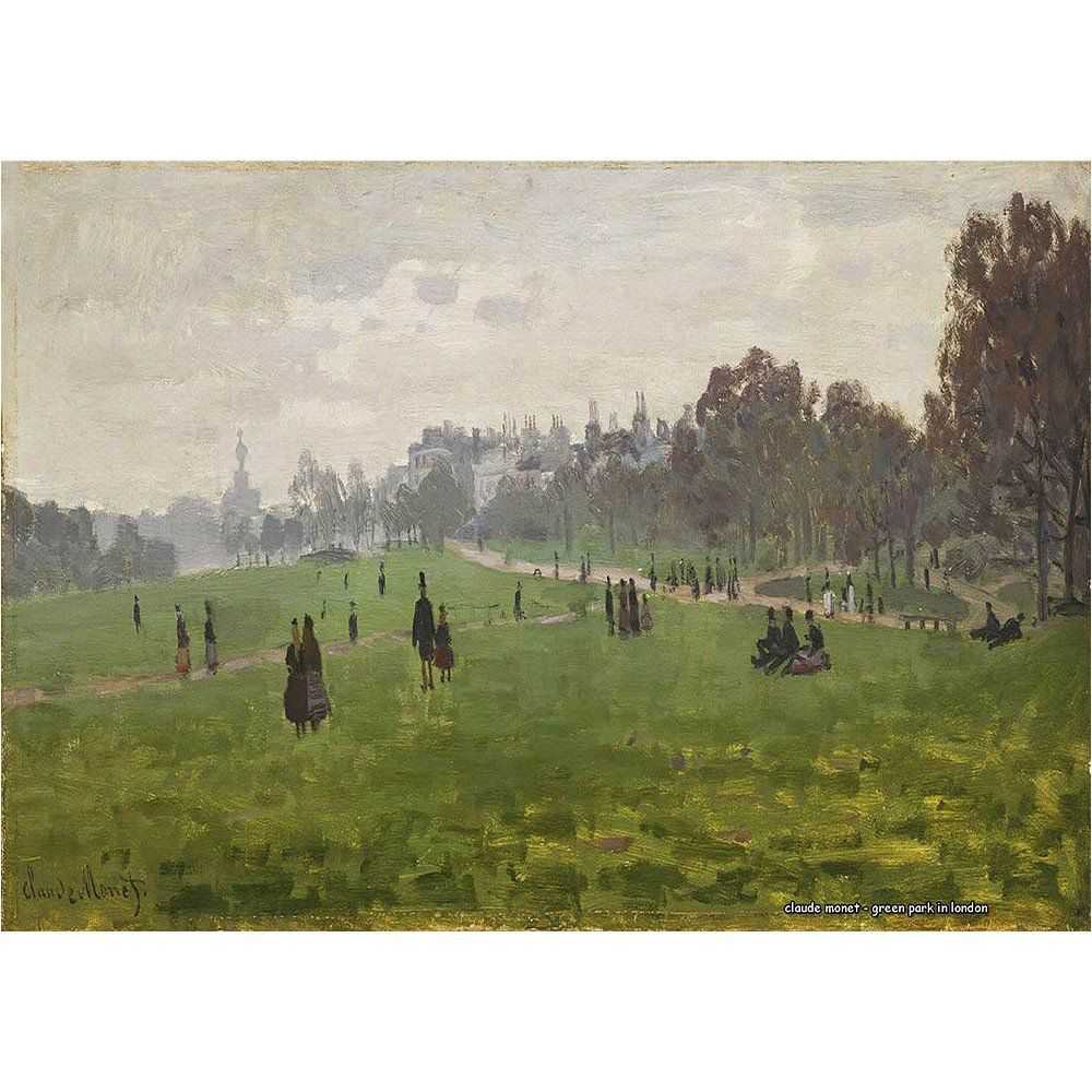 Pôster Decorativo A4 Green Park in London - Claude Monet Cosi Dimora