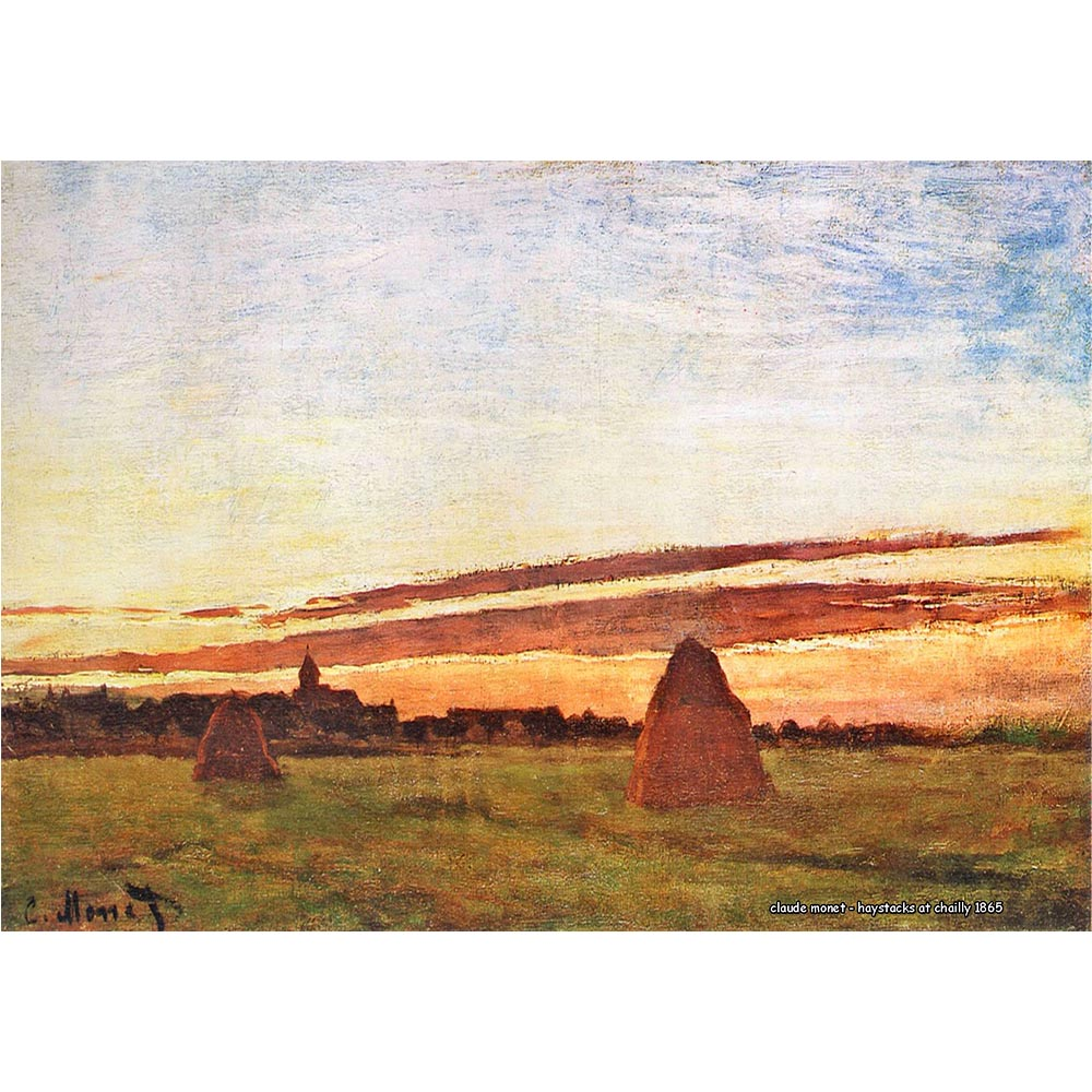 Pôster Decorativo A4 Haystacks at Chailly 1865 - Claude Monet Cosi Dimora