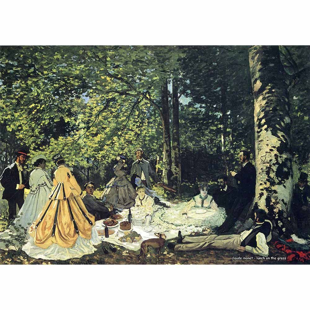 Pôster Decorativo A4 Lunch on the Grass - Claude Monet Cosi Dimora
