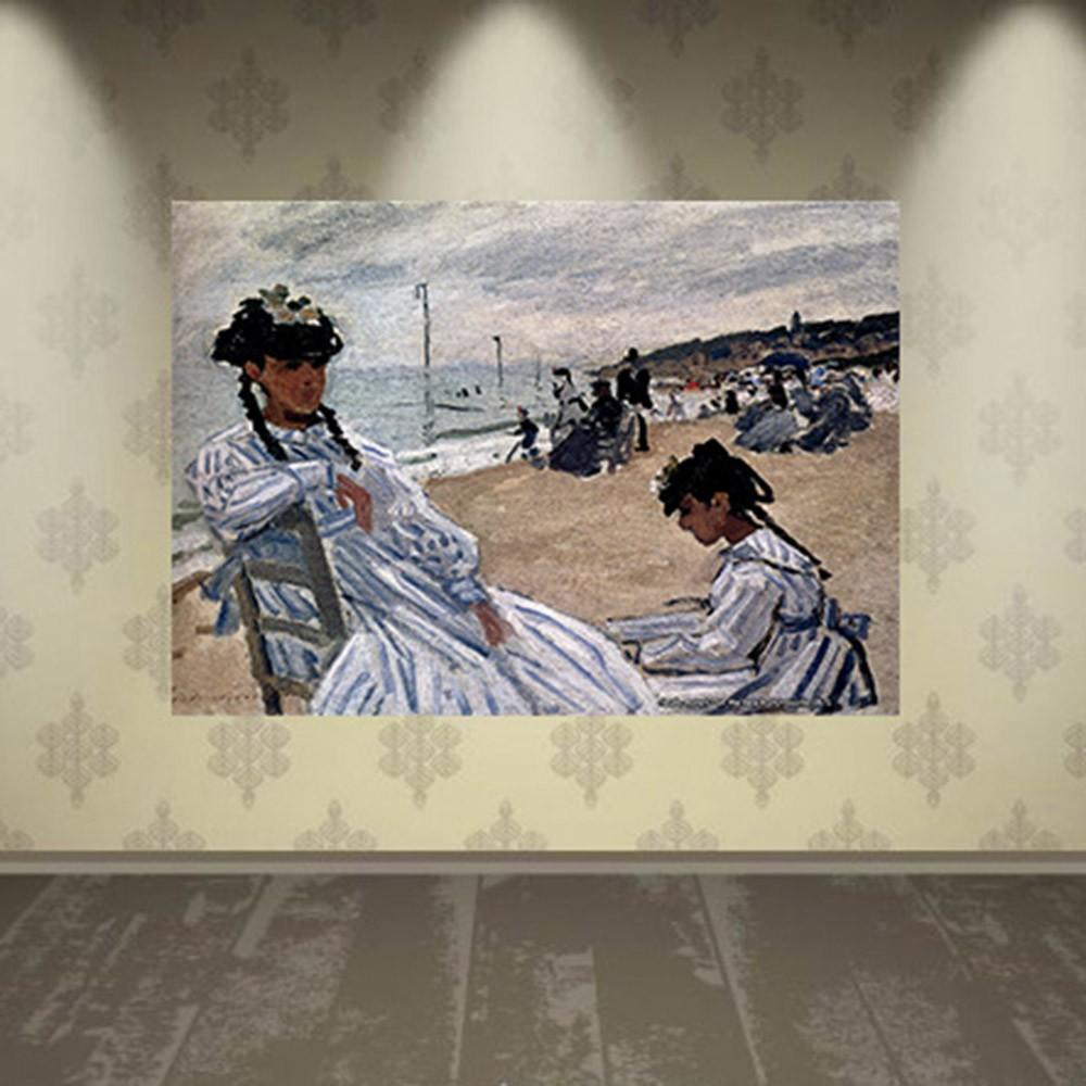 Pôster Decorativo A4 On the Beach at Trouville 1871 - Claude Monet Cosi Dimora
