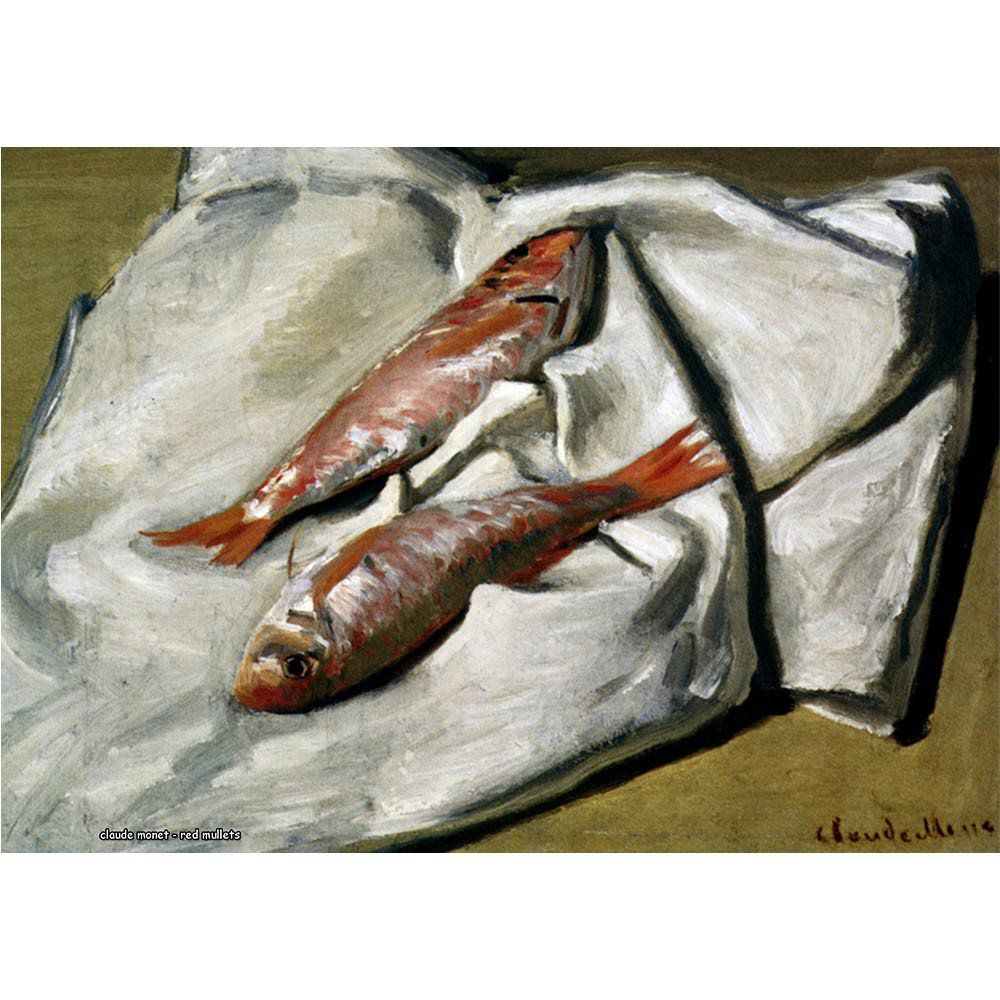 Pôster Decorativo A4 Red Mullets - Claude Monet Cosi Dimora
