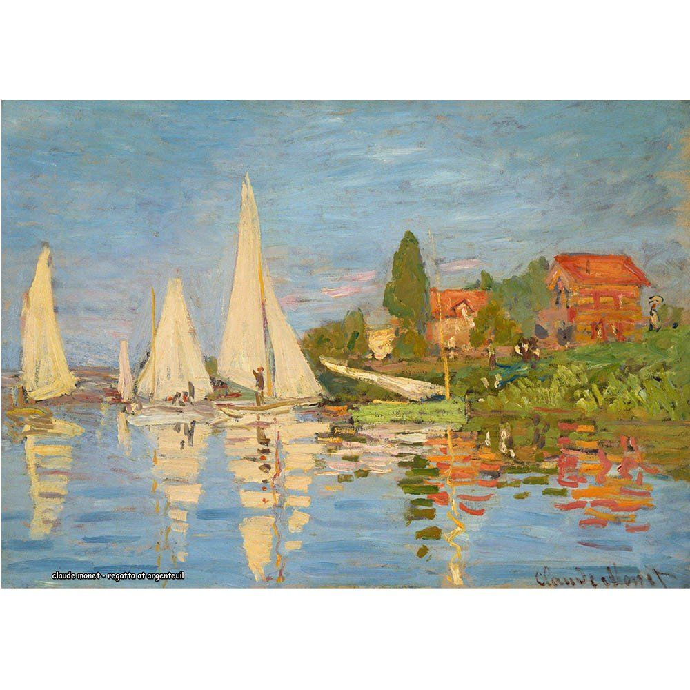 Pôster Decorativo A4 Regatta at Argenteuil - Claude Monet Cosi Dimora