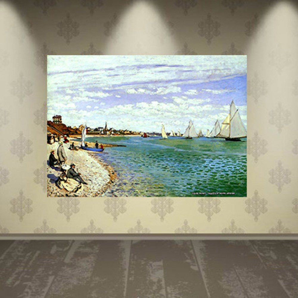 Pôster Decorativo A4 Regatta at Sainte Adresse - Claude Monet Cosi Dimora