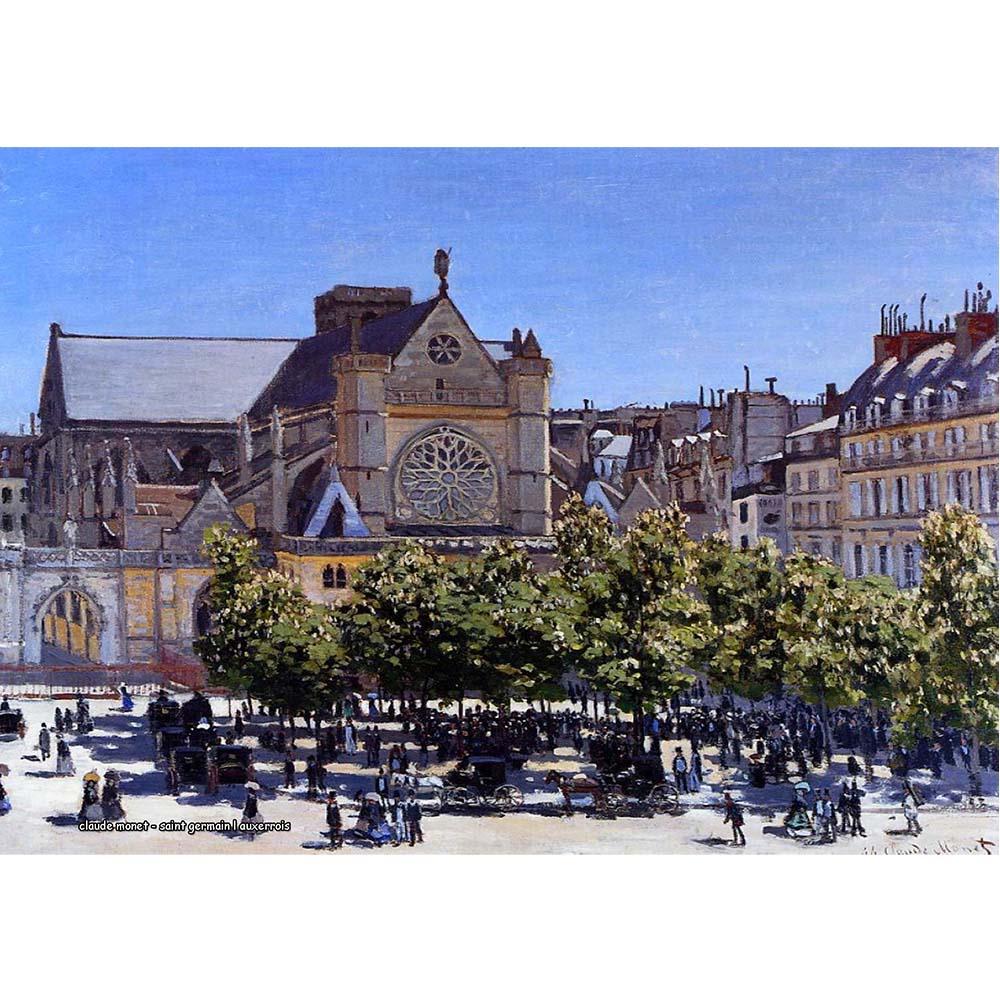 Pôster Decorativo A4 Saint Germain l Auxerrois - Claude Monet Cosi Dimora