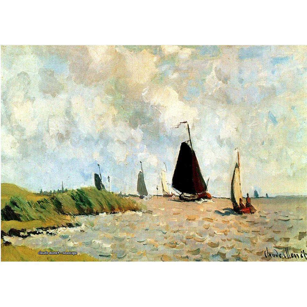Pôster Decorativo A4 Seascape - Claude Monet Cosi Dimora