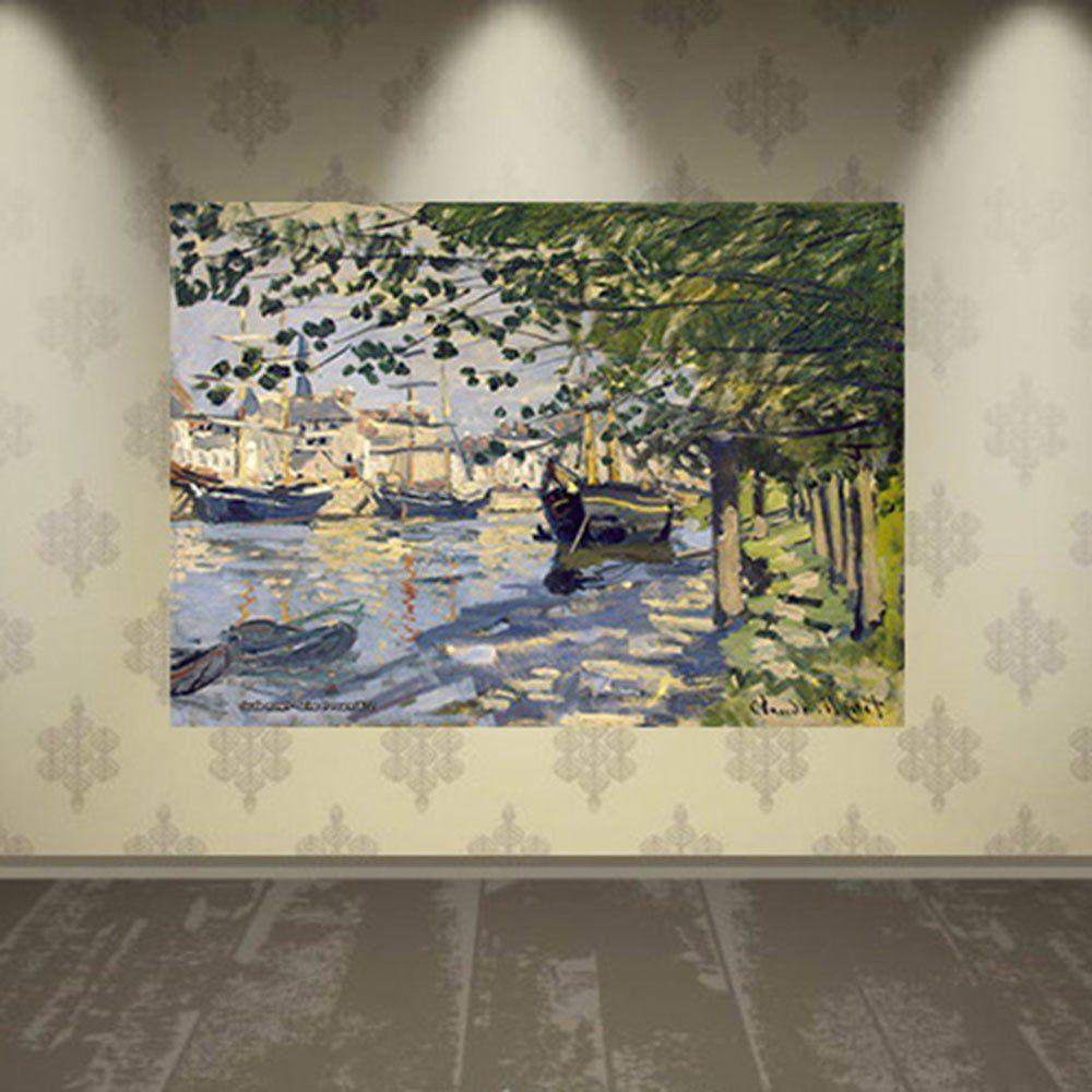 Pôster Decorativo A4 Seine at Rouen - Claude Monet Cosi Dimora