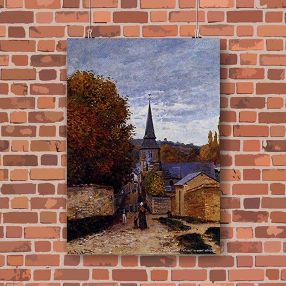 Pôster Decorativo A4 Street in Saint Adresse - Claude Monet Cosi Dimora