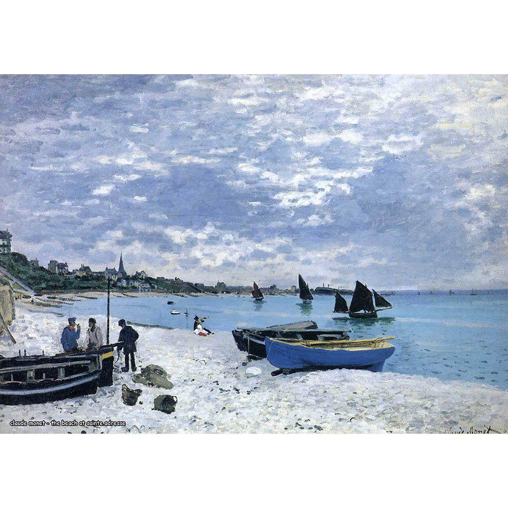 Pôster Decorativo A4 The Beach at Sainte Adresse - Claude Monet Cosi Dimora
