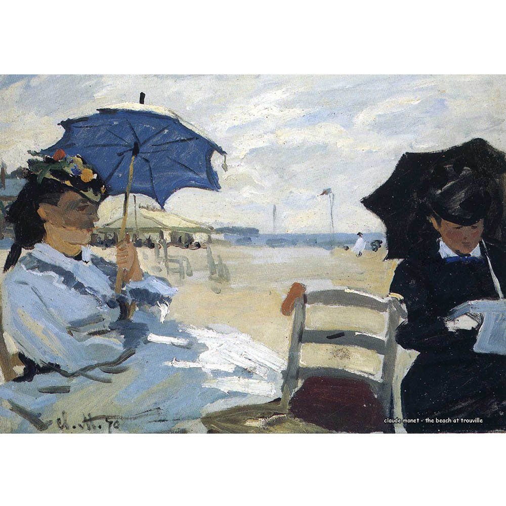 Pôster Decorativo A4 The Beach at Trouville - Claude Monet Cosi Dimora