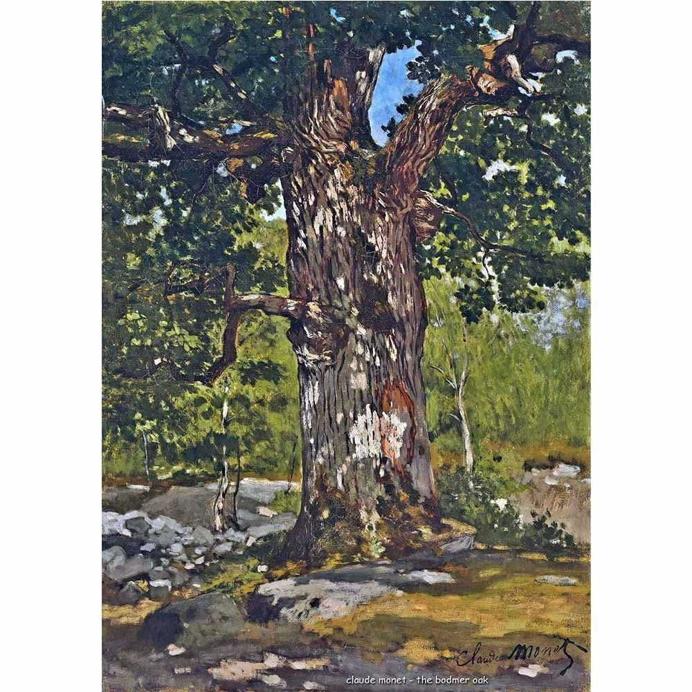 Pôster Decorativo A4 The Bodmer Oak - Claude Monet Cosi Dimora