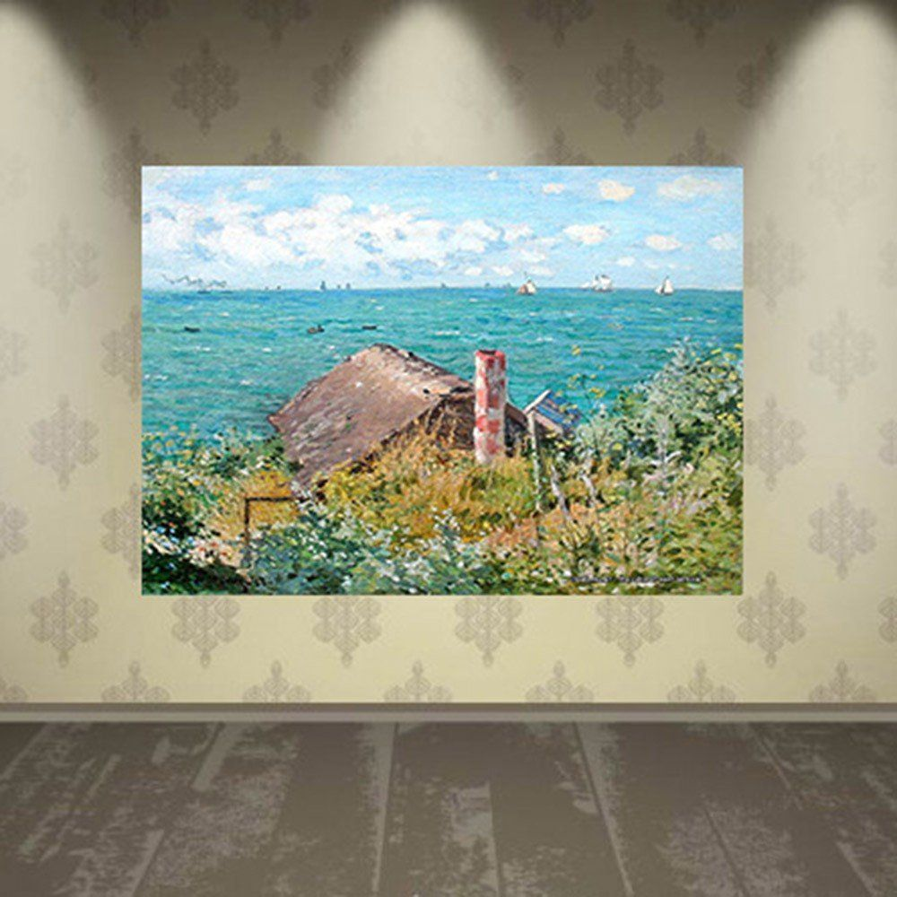 Pôster Decorativo A4 The Cabin at Saint Adresse - Claude Monet Cosi Dimora