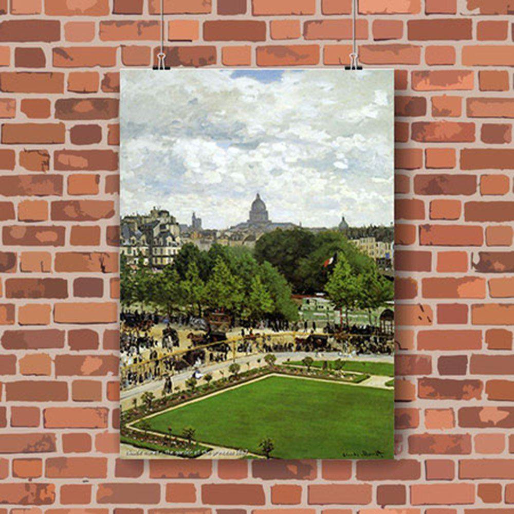 Pôster Decorativo A4 The Garden of the Princess 1867 - Claude Monet Cosi Dimora