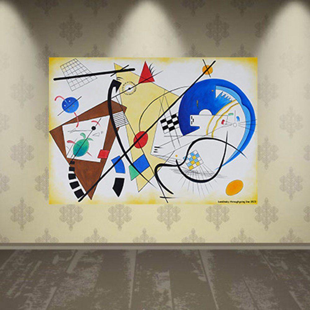 Pôster Decorativo A4 Throughgoing Line 1923 - Kandinsky Cosi Dimora